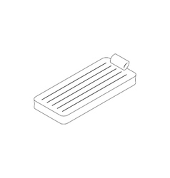 Floating air mattress icon isometric 3d style vector image