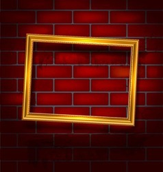 frame on red brick wall vector image