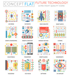 Future technology concept icons vector