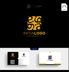 Gold luxury and premium initial a logo template vector