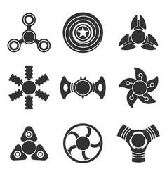 hand fidget spinner extra shape icon set vector image