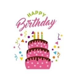 happy birrhday cake celebration vector image