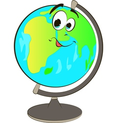 Happy globe cartoon vector