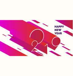 happy new year poster 2019 modern abstract vector image