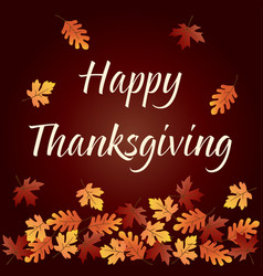 happy thanksgiving graphic with gradient falling vector image