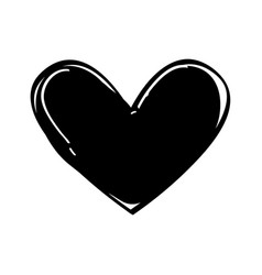 Heart love black icon vector