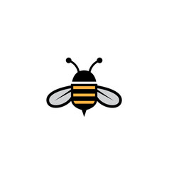 honey bee open wings and fly with big ears for vector image