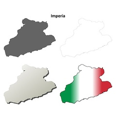 Imperia blank detailed outline map set vector