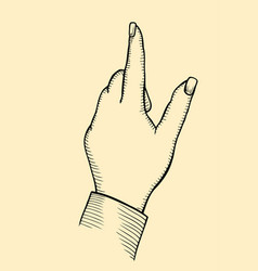 index finger shows gesture upward vector image
