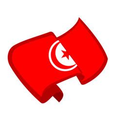 Isolated flag of tunisia vector