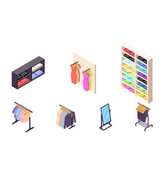 isometric 3d collection isolated urban element vector image