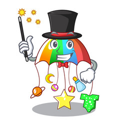 magician baby playing with cartoon hanging toys vector image