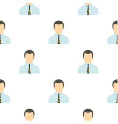 Man in business suit as user pattern flat vector
