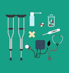 medicine set vector image