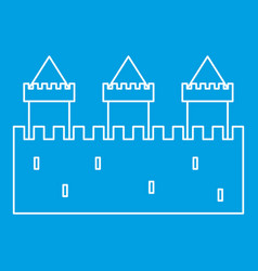 Medieval fortification icon outline style vector