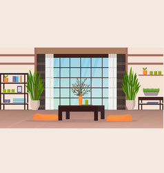 Modern living room interior empty no people home vector