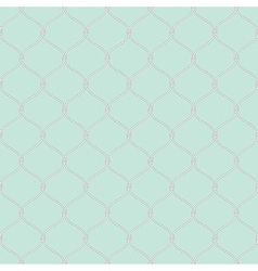 Nautical rope seamless fishnet pattern on light vector
