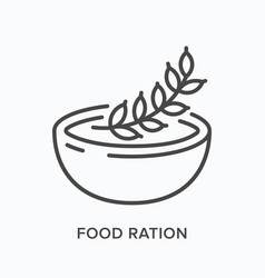 Nutrition flat line icon outline vector