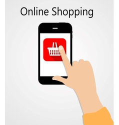 Online Shopping Flat Concept vector image