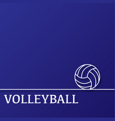 outline volleyball background vector image