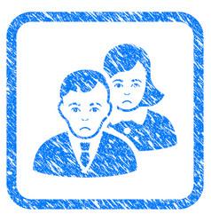 people framed stamp vector image