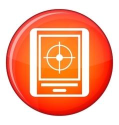 Radar icon flat style vector image