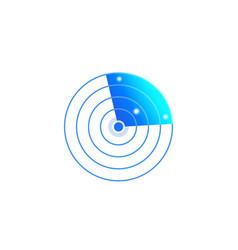 Radar icon on white vector