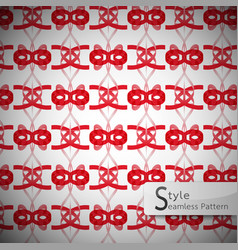 red bow ribbon geometric seamless pattern vector image