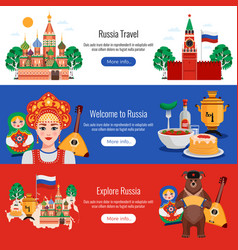 russia travel banners vector image