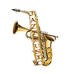 saxophone in the section vector image