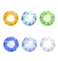 Set of jewels vector image