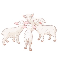 Sheep Group vector image