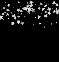 silver star confetti vector image