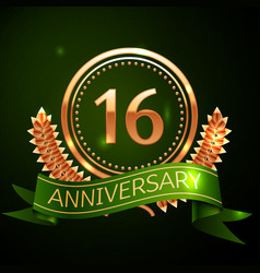 sixteen years anniversary celebration design vector image