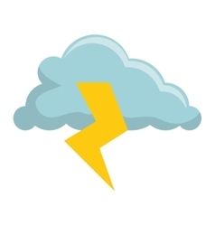 Storm electric isolated icon vector