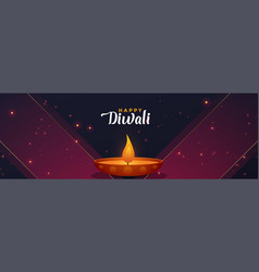 Stylish diwali banner design template vector