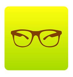 Sunglasses sign brown icon vector