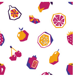 sweet fruit abstract seamless pattern vector image