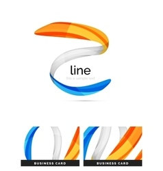 Swirl wavy ribbon abstract concept vector image