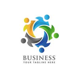 Teamwork and social logo vector
