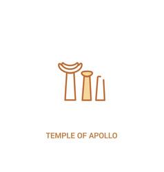 Temple apollo concept 2 colored icon simple vector