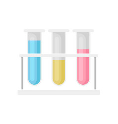 test tubes with liquid laboratory equipment vector image