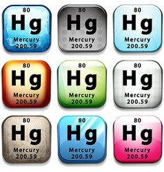 The chemical element mercury vector
