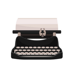vintage mechanical typewriter vector image
