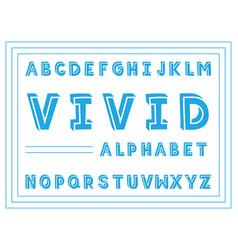 vivid handwritten font alphabet vector image