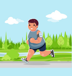 weight loss outdoor running health care run park vector image