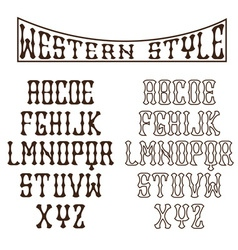 western alphabet vector image