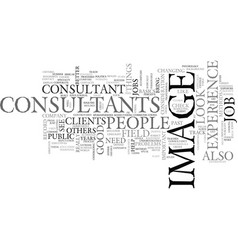 what to look for in image consultants text word vector image