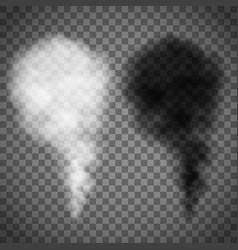 white and black smoke vector image