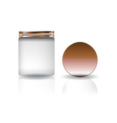 white cosmetic round jar with lid in high size vector image